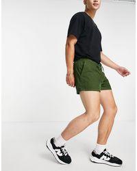 ASOS Shorts cortos caqui oscuro - Verde