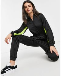 Dr. Denim Axis Satin Zip Up Jumpsuit - Black