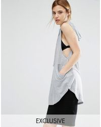 Stitch & Pieces - Hooded Oversize Top - Lyst