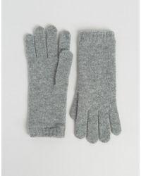 Johnstons - Cashmere Gloves In Grey - Light Grey - Lyst