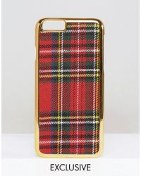 ASOS Wah London X Tartan Iphone 6 Case - Tartan - Multicolour