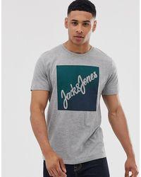 Jack & Jones T-Shirt mit Logo - Grau