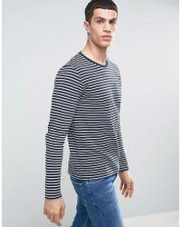 Casual Friday - Sweatshirt In Stripe - Lyst
