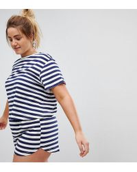 ASOS - Breton Stripe Tee & Short Pyjama Set - Lyst