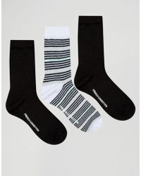 French Connection - Stripe Glitter Sock Two Pack - Lyst