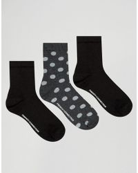 French Connection - Glitter Polka Sock Three Pack - Lyst
