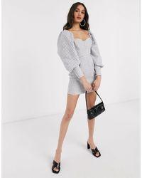ASOS Blouson Sleeve Mini Dress - Multicolor