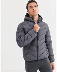 New Look Серая Дутая Куртка -серый