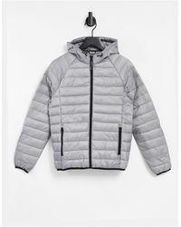 Bershka Lightweight Padded Jacket - Grey