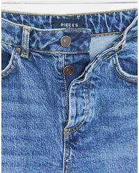 Pieces Cara High Waisted Skinny Jeans - Blue