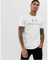 Armani Exchange T-shirt à logo avec inscription - Blanc