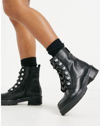 Kurt Geiger Bax Chunky Boot - Black