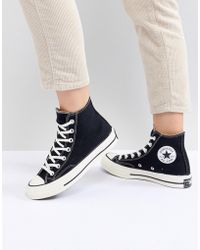 82b3d7e0a13660 Lyst - Converse Chuck Taylor High Sneakers In Gold Satin in Metallic