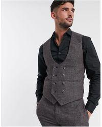 ASOS Wedding Super Skinny Suit Waistcoat - Grey