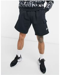 Nike Club - Pantaloncini cargo neri - Nero
