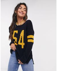 Superdry Pia Varsity Knitted Jumper - Blue