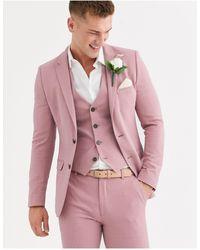 ASOS Розовый Супероблегающий Пиджак