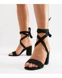 e0df1425080 Park Lane - Parklane Wide Fit Tie Leg Block Heeled Sandals - Lyst