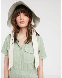 & Other Stories Organic Cotton Pocket Detail Denim Boilersuit - Green