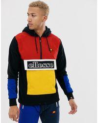livraison gratuite produit chaud le magasin Legno - Hoodie color block à demi-patte zippée et empiècements - Noir