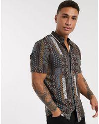 River Island - Camisa con estampado - Lyst
