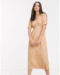 Closet Midi Tea Dress - Natural
