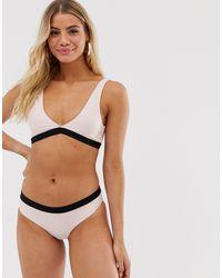 Brave Soul - Bikini con scollo a V pesca - Lyst