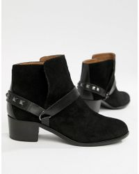 H by Hudson Leather Ankle Boots - Black