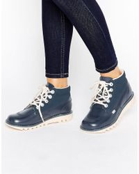 Kickers - Hi Side Leather Boot - Lyst