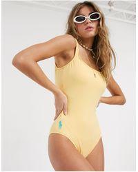 Polo Ralph Lauren Modern Solids Martinique Swimsuit - Yellow
