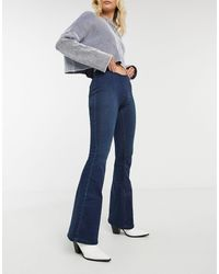 Free People Penny - Pull-on Flared Jeans - Blauw