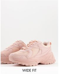 ASOS Wide Fit Dorri Chunky Trainers - Pink