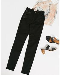 Pieces Nora High Waisted Skinny Jeans - Black