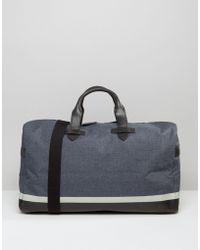 Racing Green - Canvas Holdall With Leather Look Trims - Lyst