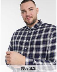 Burton Big & Tall Check Shirt - Blue