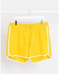 Weekday Tan Swim Shorts - Yellow