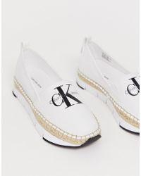 Calvin Klein Genna - Espadrilles en toile - Blanc