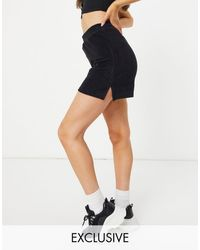 New Girl Order Exclusive Terry Towelling Co-ord Shorts - Black