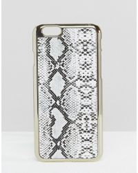 New Look - Snake Print Iphone 6/6s Case - White - Lyst