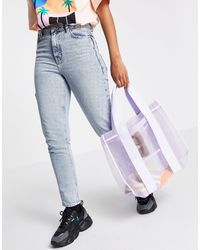 Weekday Carla Mesh Tote Bag - Purple