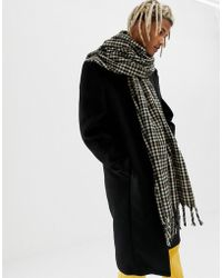 ASOS Blanket Scarf In Brown Check