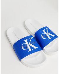 Calvin Klein Синие Шлепанцы Viggo-Синий