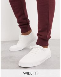 ASOS - Wide Fit Sneakers - Lyst