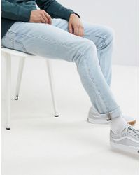Lee Jeans - Rider Slim Jeans In Moonstone (light Wash) - Lyst