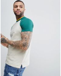 ASOS - Raglan T-shirt With Contrast Tipping Neck - Lyst