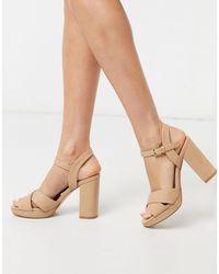 Miss Kg Platform Crossover Sandals - Multicolour