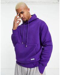Pull&Bear Худи Фиолетового Цвета -фиолетовый Цвет - Пурпурный