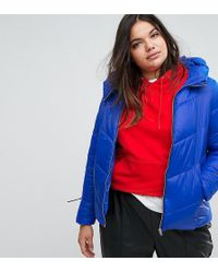 Simply Be Padded Jacket - Blue