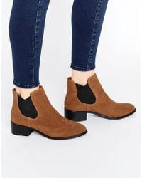 Pull&Bear - Suedette Chelsea Boot - Brown - Lyst