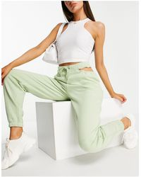 ASOS 4505 Oversized sweatpants With Waist Cut Out Detail - Green